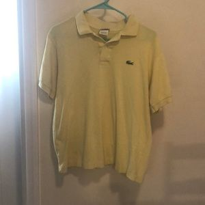 Yellow Lacoste Polo size 4 ( S )